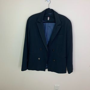 Topshop Black Double Breasted Blazer